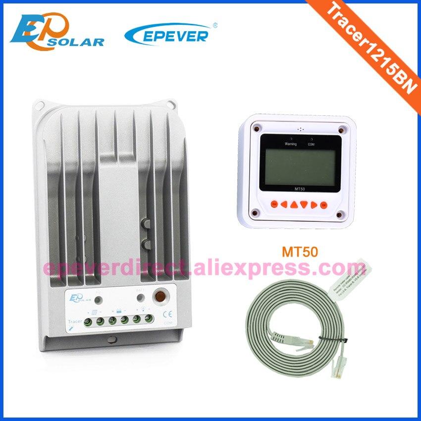 10A 12 V 24 V nouveau traceur 1215BN 10 ampères Programmable MPPT contrôleur de Charge solaire avec MT50 LCD affichage à distance compteur