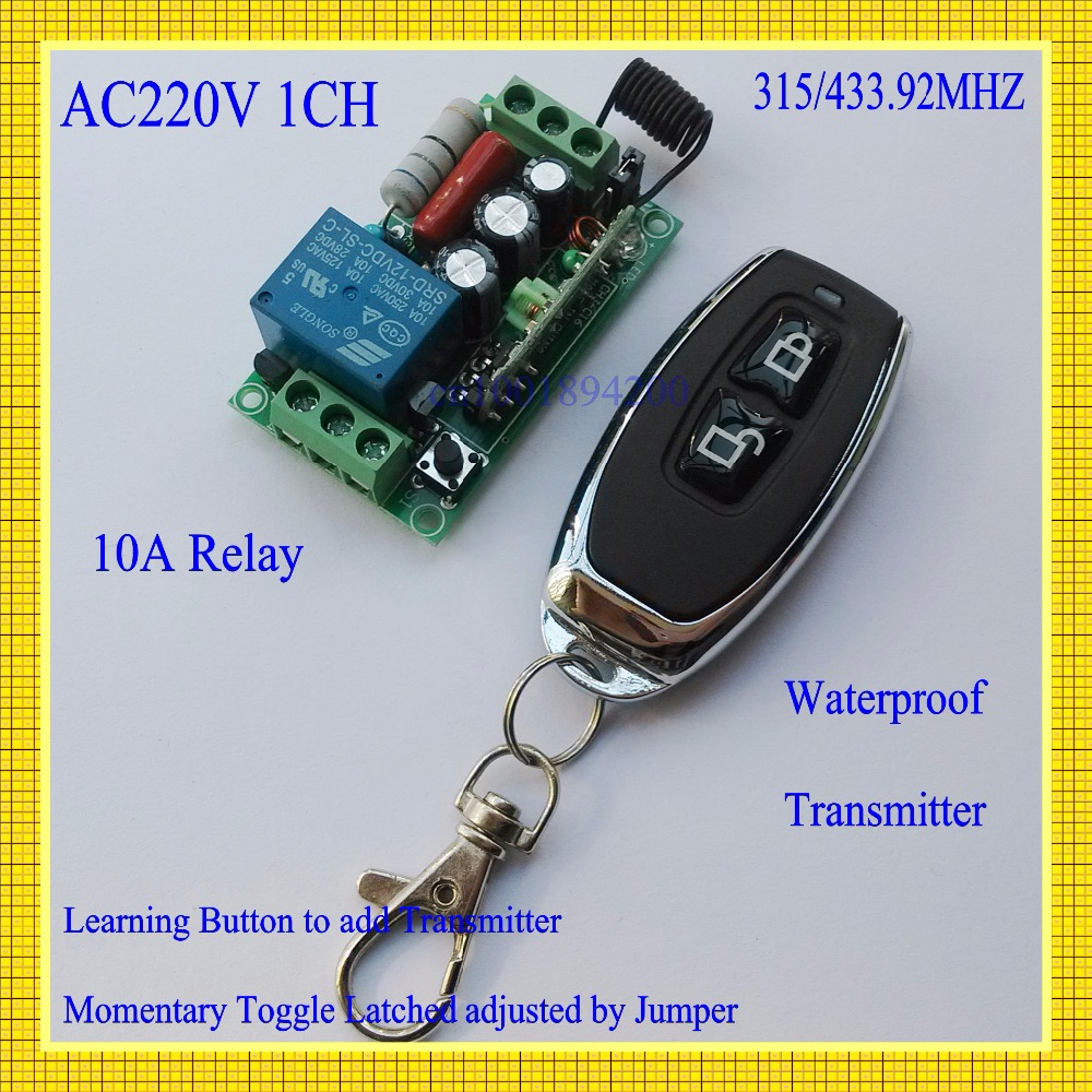 Remote Control Switches 315mhz Light Lamp LED Power Wireless Controller AC 220V 1CH 10A Relay Receiver Transmitter Lock Unlock 220v ac 10a relay receiver transmitter light lamp led remote control switch power wireless on off key switch lock unlock 315433