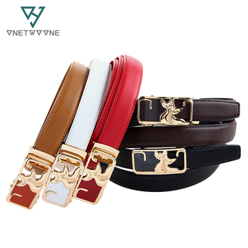 Fancy Design Girls Genuine Leather Belt Teddy Bear Mickey Shaped Buckle Cowhide Leather Straps 2017 Newest Brand Name Belts  belt