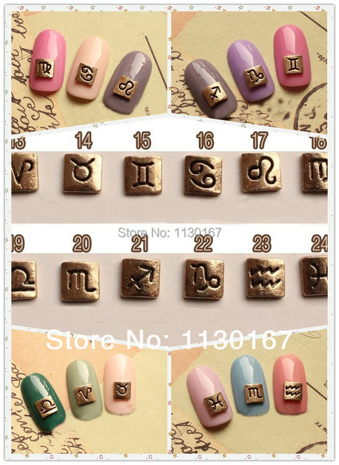 New arrive twelve constellations nail designs aries 3d for 3d nail art decoration
