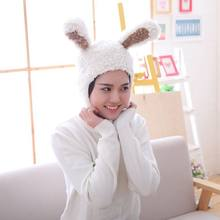 New Arrive 1Pc Korea Star Fan Zhi Qiao Same Item Cosplay Costumes White Rabbit Ears Plush Toy Hat Fancy Funny Doll Birthday Gift(China)
