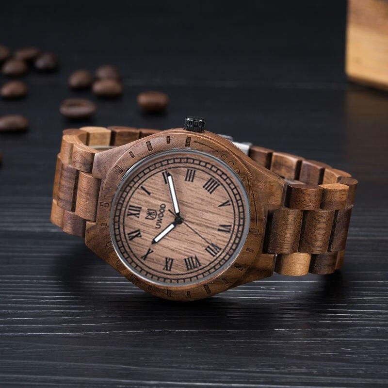 Montre en bois de santal de mode femmes marque de luxe nouvelle montre-bracelet en bois de Quartz naturel femmes horloge montre en bois avec bande en bois 2016