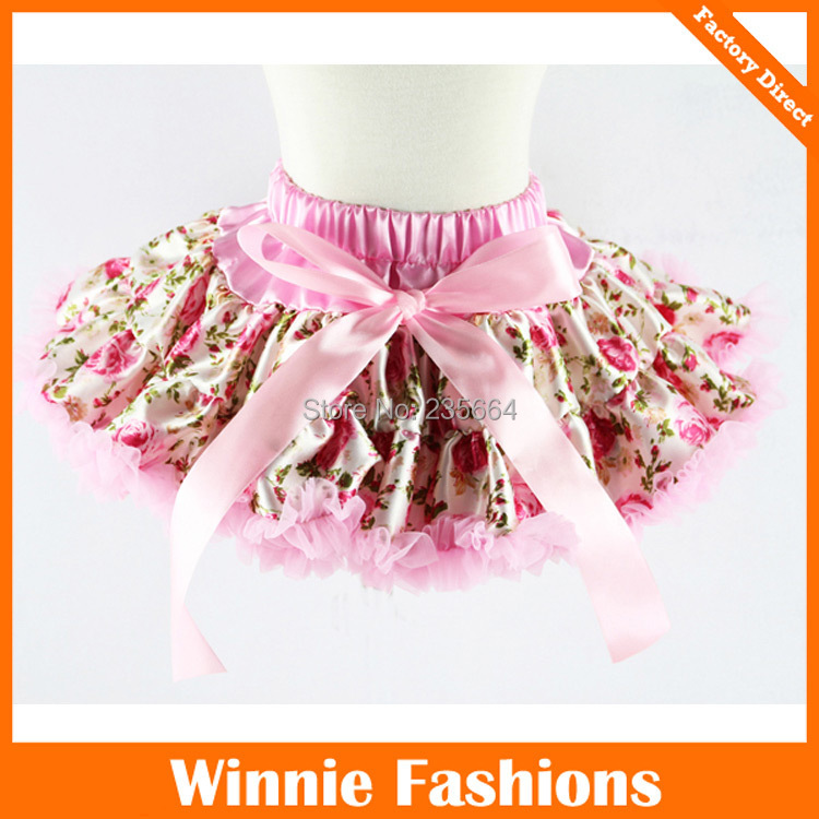 Free Shipping By Dhl New Fashion Floral Baby Girl Fluffy Tutus Pettiskirts And Princess Dance Party Wear Skirts 1-10t 25pcs
