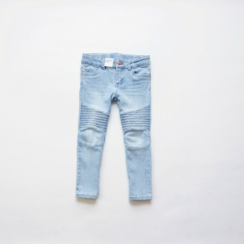 New Fashion Girls Jeans Children's washing jeans Kids Denim Biker Jeans Baby boys girls Leggings jeans cotton pencil pants new fashion slim women leggings faux denim jeans long note printing spring summer leggings casual ankle length pencil pants