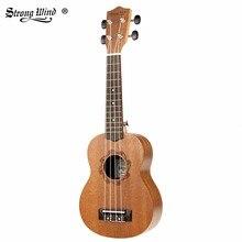 Сильный ветер 21 дюймов гитара гавайская гитара Акустическая гитара Basswwod Гавайская гитара 4 нейлоновыми струнами укулеле