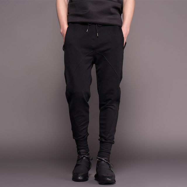 2015 Mens Joggers Cotton Pants Fashion Men Hip Hop Loose Harem Cargo Pants for Sweatpants