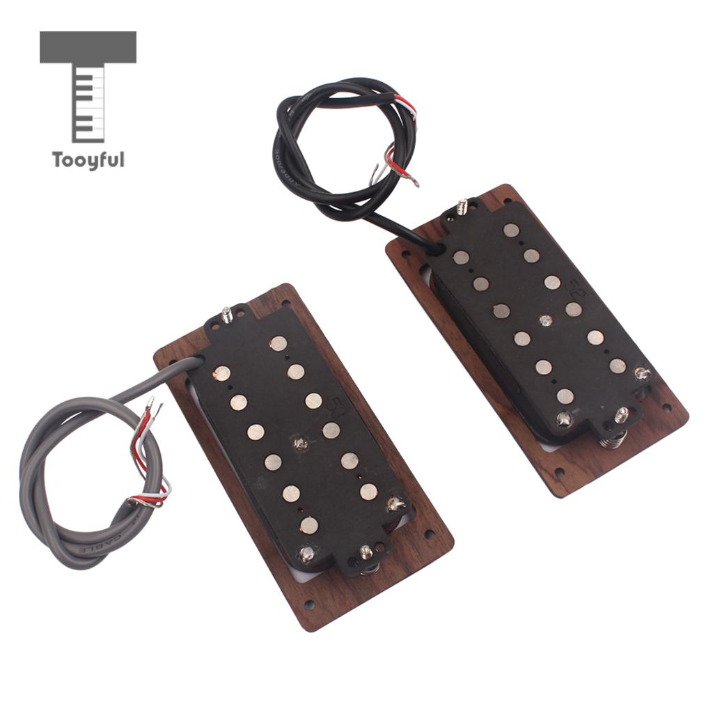 Tooyful Set Guitar Pickup Double Coil Humbucker Alnico 5 Rosewood for SG ST Fender Electric Guitar DIY tsai hotsale vintage voice single coil pickup for stratocaster ceramic bobbin alnico single coil guitar pickup staggered pole