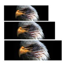 American Flag Bald Eagle Warbird Face Rear Window Graphic Decal For Truck Jeep SUV
