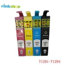 T1295 T1291 - T1294 Ink Cartridge For Epson Stylus SX235W SX230 SX420W SX425W SX430W SX435W SX440W SX445W 29xl t1291t2992 t2993 t1294 ink cartridge full ink for stylus sx235w sx230 sx420w sx425w sx430w sx435w sx440w sx445w printer