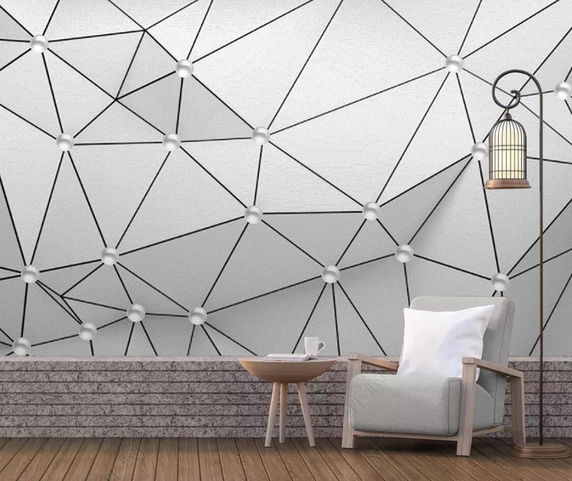 抽象的な幾何学ライン壁紙ロール 3d 壁画寝室用フォト壁紙 3d アート壁の絵画ホームキャンバスコンタクト紙 壁紙 Aliexpress