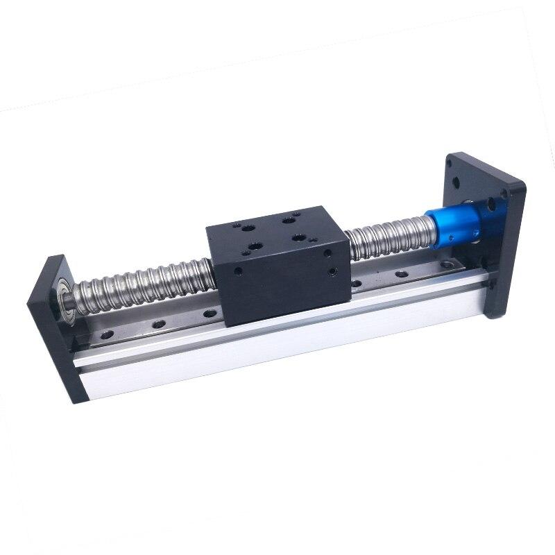 Винт Линейный модуль резьба стержень линейный направляющий модуль Ход 100 мм для шагового двигателя ЧПУ шаровые детали Роботизированная рук...