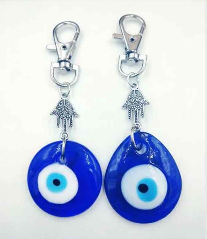 Hy lạp Thổ Nhĩ Kỳ Evil Eye Tường Treo Amulet, Kabbalah & Evil Eye Cho Các Phím Xe Túi Quyến Rũ Chính Nhẫn Túi Xách Cặp Dây Đeo Chìa Khóa Quà Tặng