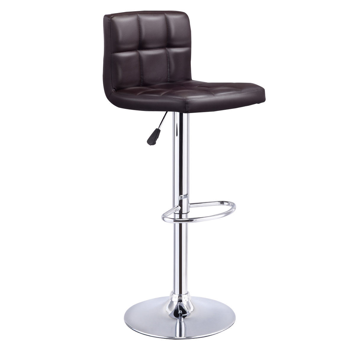 Giantex Modern Bar Stool Swivel Adjustable PU Leather Barstools Bistro Pub  Chair Rotating Home Bar Furniture HW53843BN In Bar Stools From Furniture On  ...