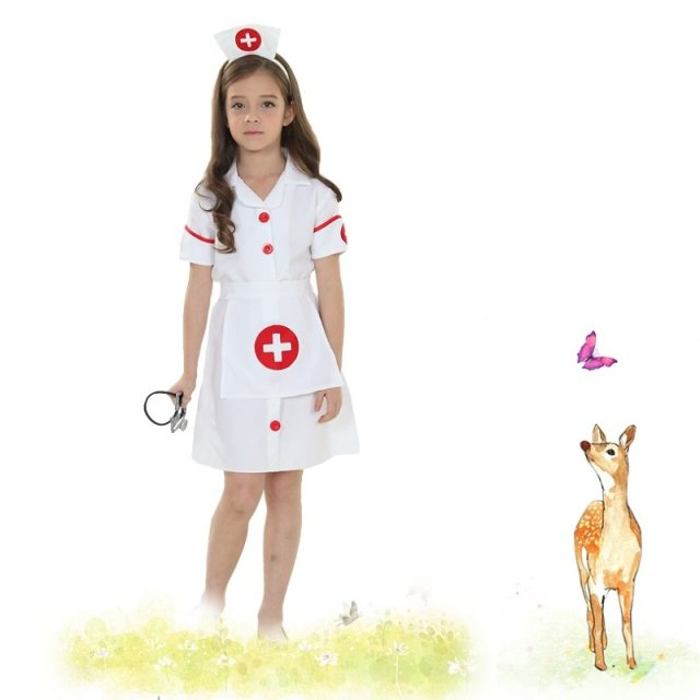 Girls Nurse Uniform in Halloween Carnival Performance Party Fancy Dress Cosplay Game Kids Nurse Outfit with Headgear  sc 1 st  Aliexpress & Online Shop Girls Nurse Uniform in Halloween Carnival Performance ...