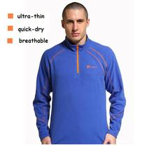 free shipping men's  anti static superfine ultrathin quick-dry warm breathable fleece Jacket T-shirt B-ZMO-0011