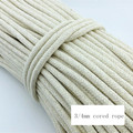 3/4mm coarse cotton cord 100% cotton knitted rope clothesline decoration rope 90/70 meters