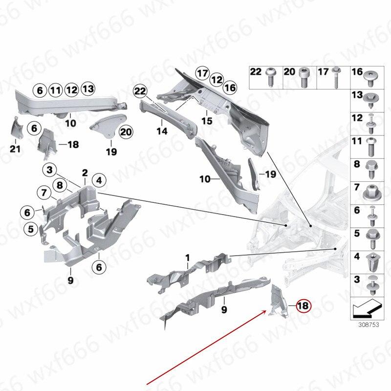 엔진 외부 가드 엔진 파티션 방화벽 x5b에 적합 mwx6 e70 e71 3.0 3.5 4.0 4.5 2008-2014 엔진 플라스틱 파티션