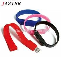 JASTER real capacity U Disk pen drive wrist usb 4GB/8GB/16GB/32GB usb flash drive flash drive memory stick pen drive 9 colors
