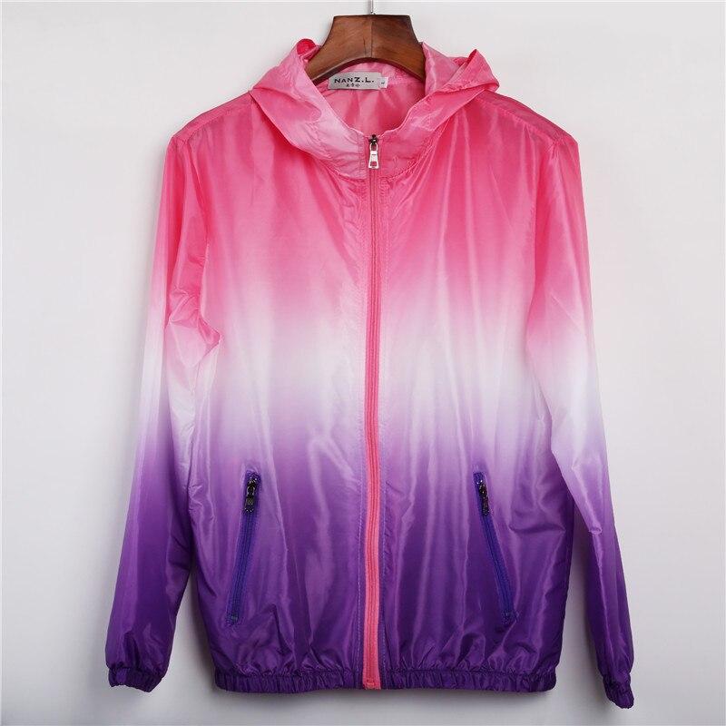 2016 Summer Sunscreen Coat Jacket Unisex Windbreaker Waterproof Thin Hooded Zipper Quick Drying
