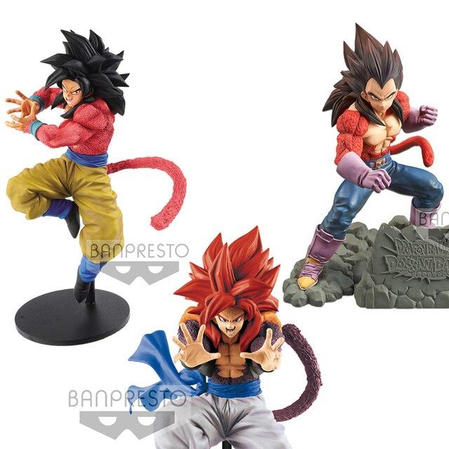 Tronzo Original Banpresto Action Figure Dragon Ball GT Goku Vegeta Gogeta SSJ4 Kamehameha PVC Figura Modelo Brinquedos Em Estoque