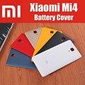 Nueva llegada mate 6 colores anti-deslizante para xiaomi mi4 m4 cubierta de batería de respaldo con mi logo