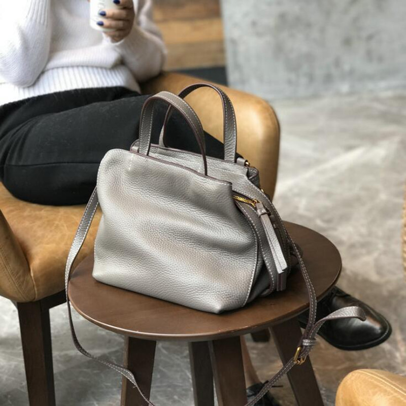 New Arrival Women Genuine Cow Leather Bag Ladies Small Messenger Bags Tote Handbag Women Famous Brands High Quality Shoulder Bag women crocodile embossed bag handbags 100% genuine cow leather for women handbag flaps shoulder tote messenger bag famous brands