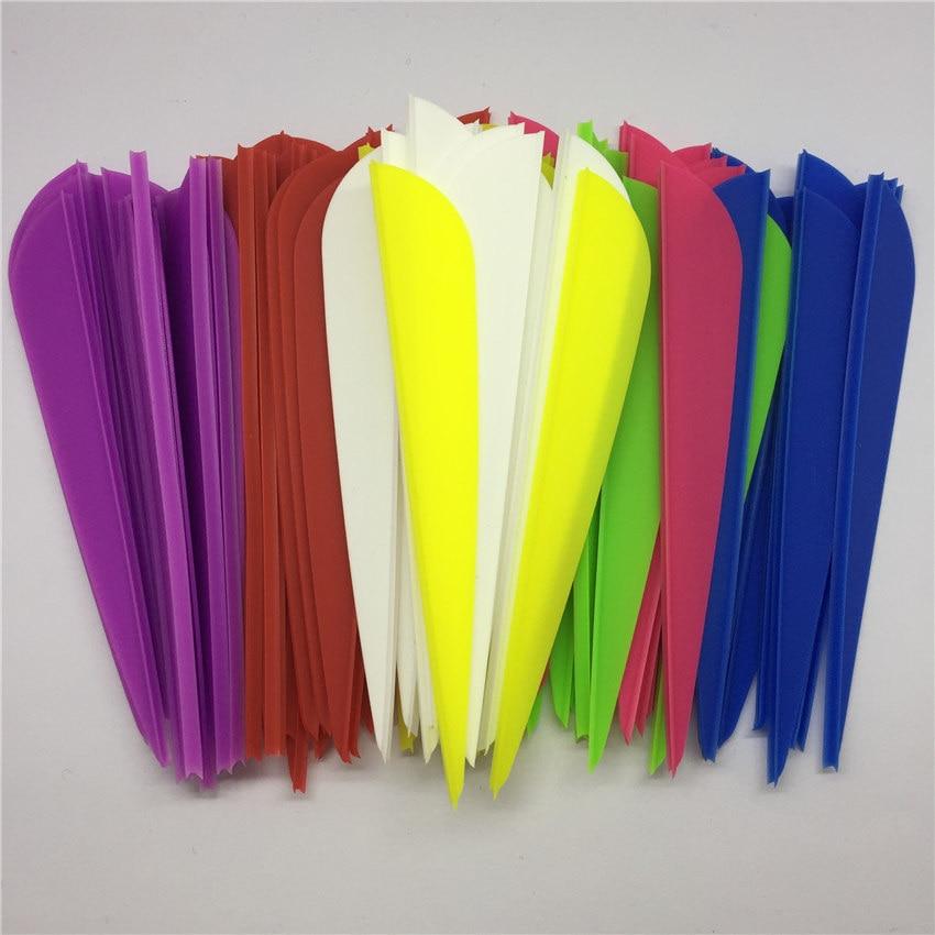 50pcs/Bag High Quality 3.9 Water Drop Shape Archery Hunting Arrrow Feather Plastic Vanes Fletch Arrow Vane Arrow Accessories