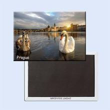Прага столица и крупнейший город Чехии путешествие картина магниты