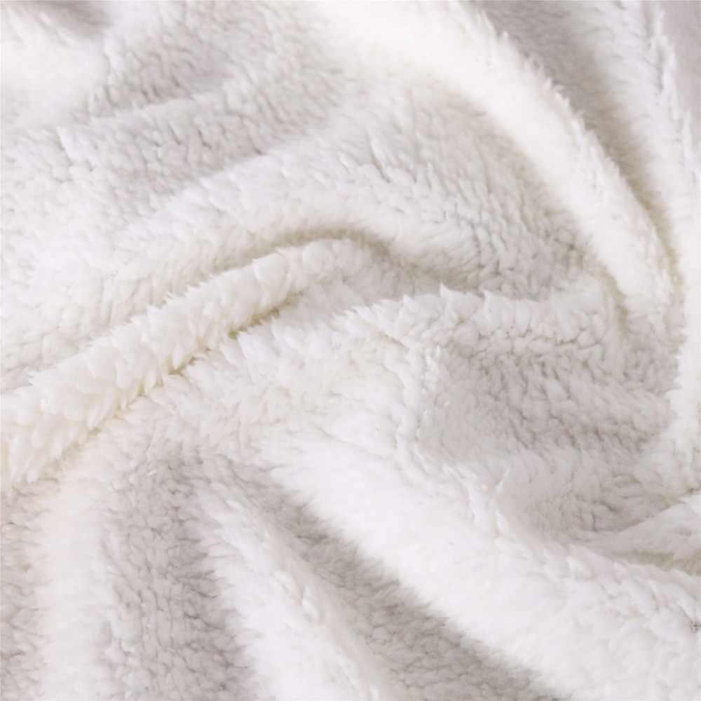 بطانية شيربا ذات تصميم جمجمة سوداء 2019 مخرج سرير شباب للسفر قابل للغسل من الصوف بطانية عليها رمز بطباعة ثلاثية الأبعاد قطيفة