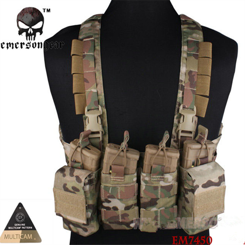 Cordura EMERSON EASY Chest Rig Multicam Vest Airsoft Painball Military Army Combat Gear EM7450-in Back Support from Sports & Entertainment    1
