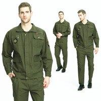 2pcs men Dust free Workshop ArmyGreen Uniforms Antistatic Dustproof Long Sleeve Coats Pants Zipper Tops Worker Overalls
