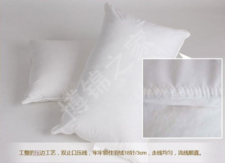 Firm 90% white goose down pillow European size 26*26 inches filled 40 oz free shipping factory wholesale - 3