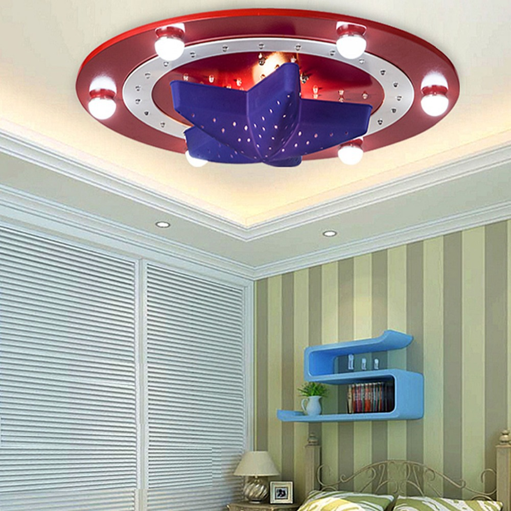 Cartoon Ceiling Light Modern American Captain Ceiling Lamps Flush ...