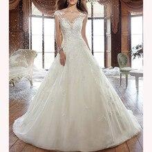 Hazy beauty A-line Wedding Dresses 2019 Sleeveless