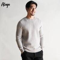 100 кашемировый свитер человек о образным вырезом осень зима теплый толстый свитер с длинным рукавом мягкий вязаный плюс Размеры Формальные