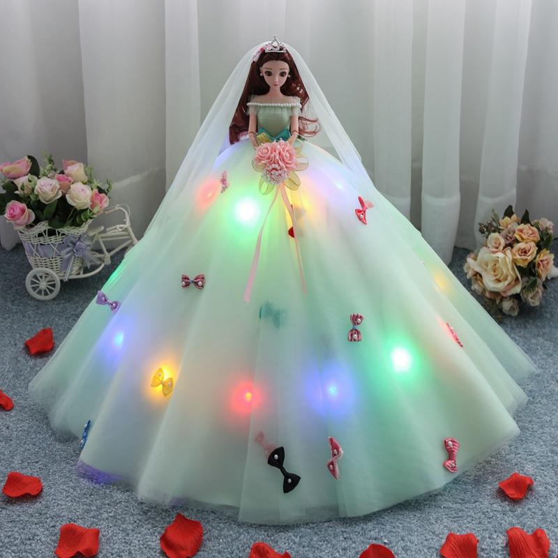 цена на Lighting Princess Dolls Toys For Girls Dolls Lol Reborn Doll Toy Girl Reborn Doll Wedding Gifts Birthday Gift Toys For Children