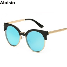 Aloisio New High Quality Metal Sunglasses Men Women Sun Glasses UV400 Famous Driving Eyewear Oculos De