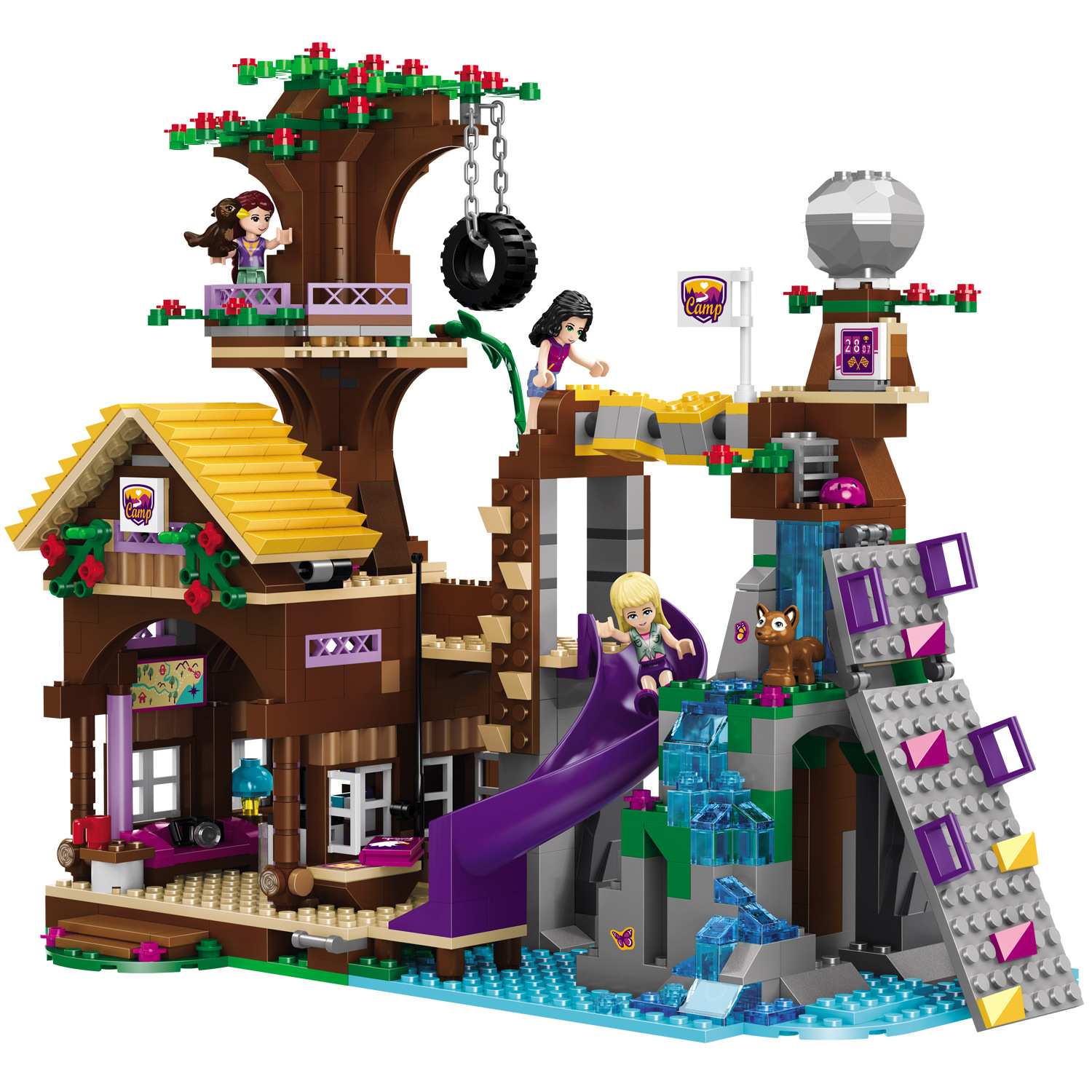 BELA <font><b>10497</b></font> Building Bricks Compatible Friends Blocks Adventure Camp Tree House Emma Mia Figure Toy For Children image