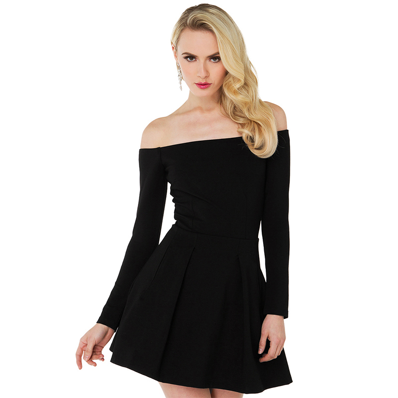 3af84b1bcc37 25106045 femme robe ete 2015 black strapless long sleeve dress short women  sexy open back vestidos de mujer curtos de verano