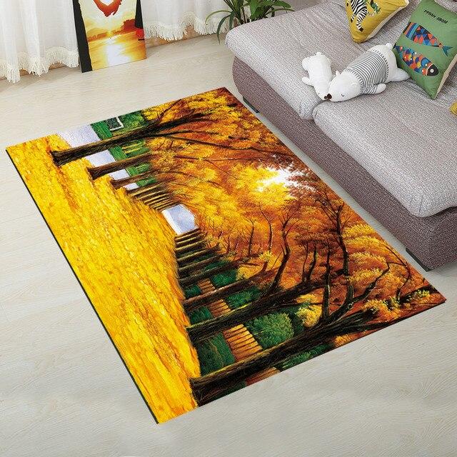 Tapis de porte imprimé 3D nordique   Grands tapis sous-marine du monde, tapis doux de flanelle, tapis antidérapant pour couloir, chambre à coucher, salon