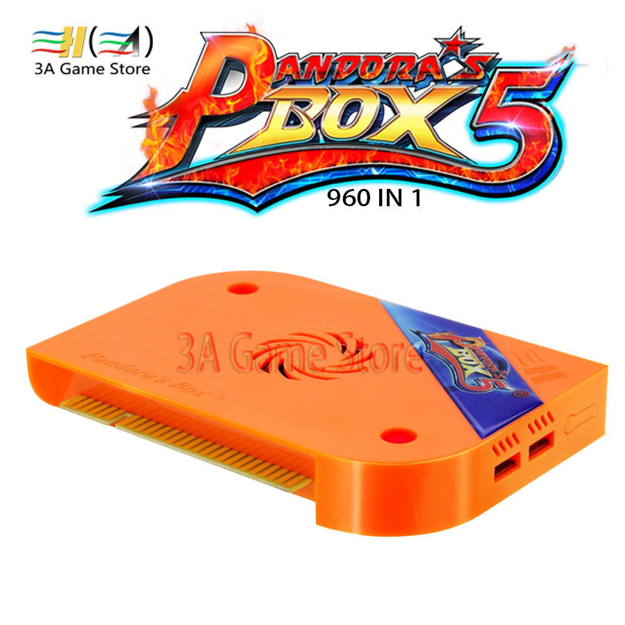 2018 Pandora Box 5 960 in 1 Jamma Mutli Game Board Arcade Mutligame VGA HDMI Output Full HD 720P Arcade Version Pandora's Box 5 pandora box 5 960 in 1 arcade version jamma version orange multi game board hdmi vga output hd 720p jamma board arcade machine