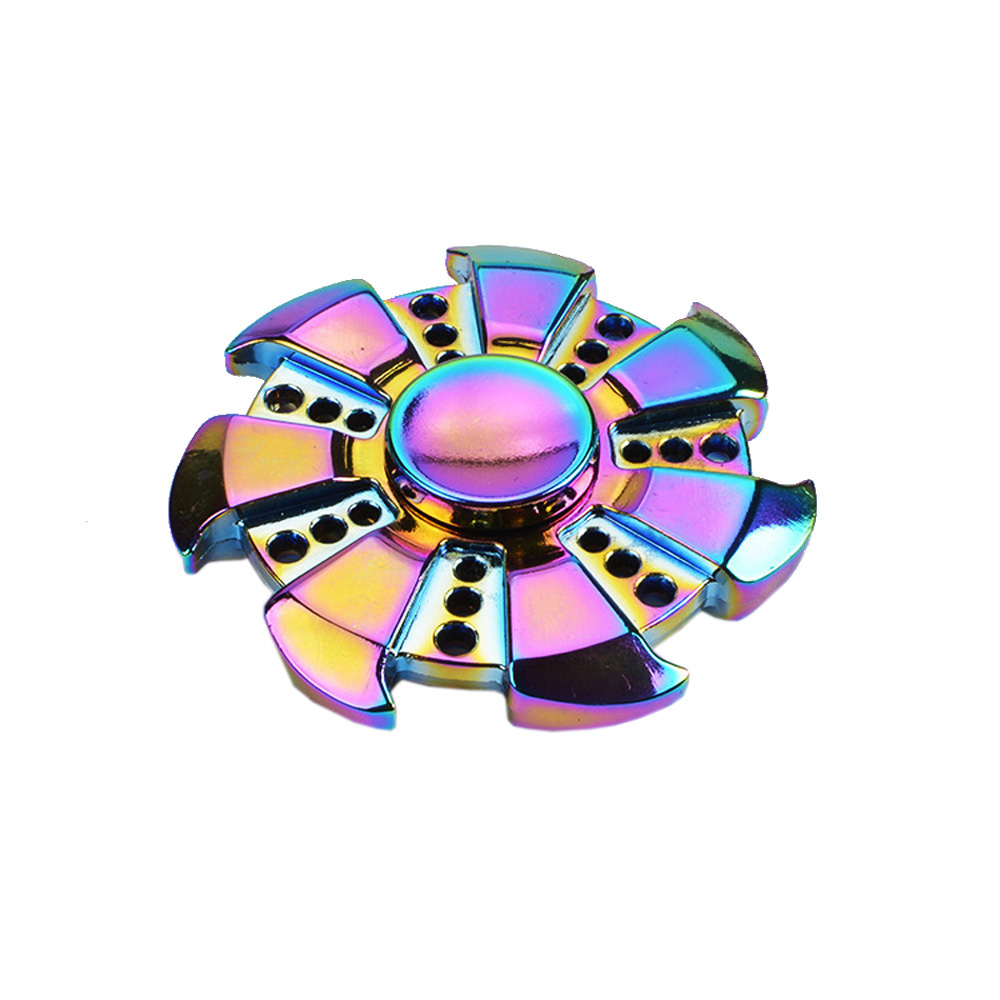 2017 New Fire Wheel Hand Finger Spinner Focus Gyro Toys Spinning ADHD Stress Autism Relax EDC