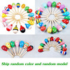 1PCS Colorful Baby Rattle Mobiles Wooden Ball Toy Sand Hammer Hand Rattles Kids Musical Instrument Percussion Toy YLT01 4