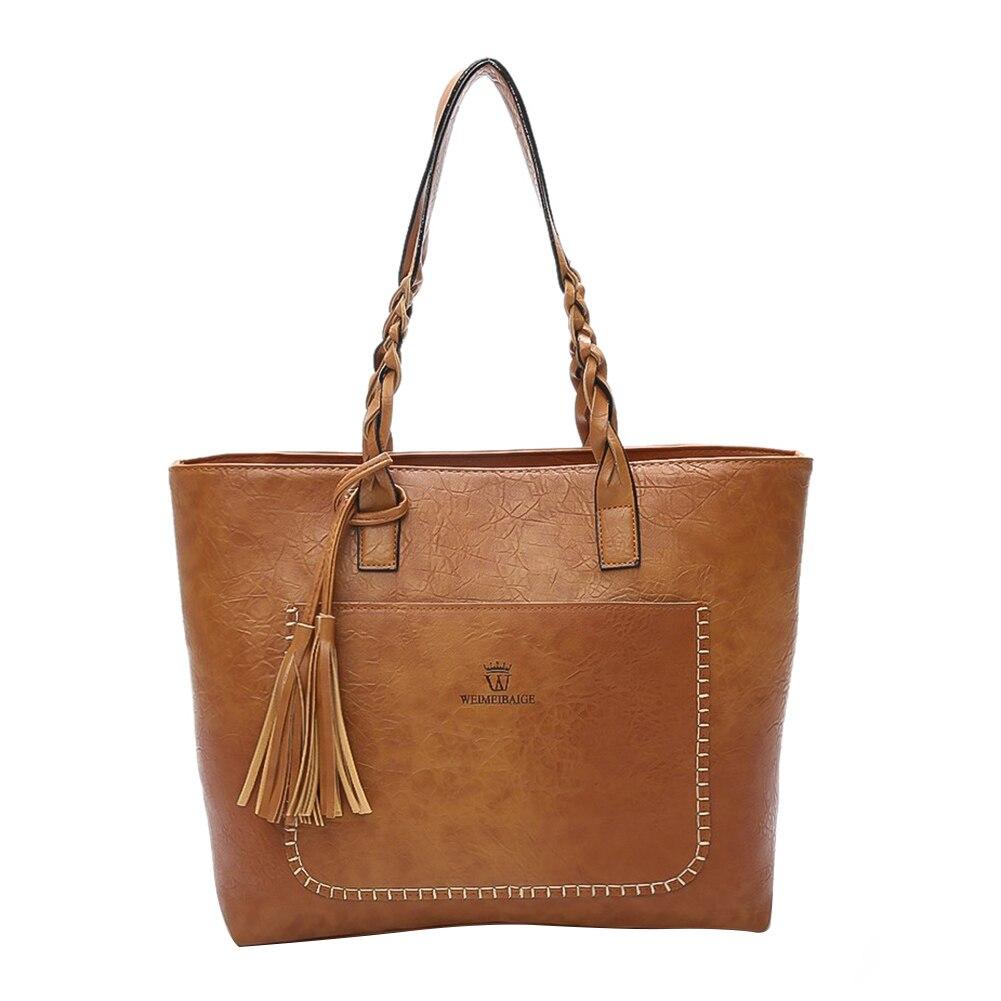 Large Capacity Women Faux Leather Handbag Fashion Tote Shoulder Bag Gift yuanyu new 2016 women bag import real python leather single shoulder bag fashion large capacity snake leather women handbag