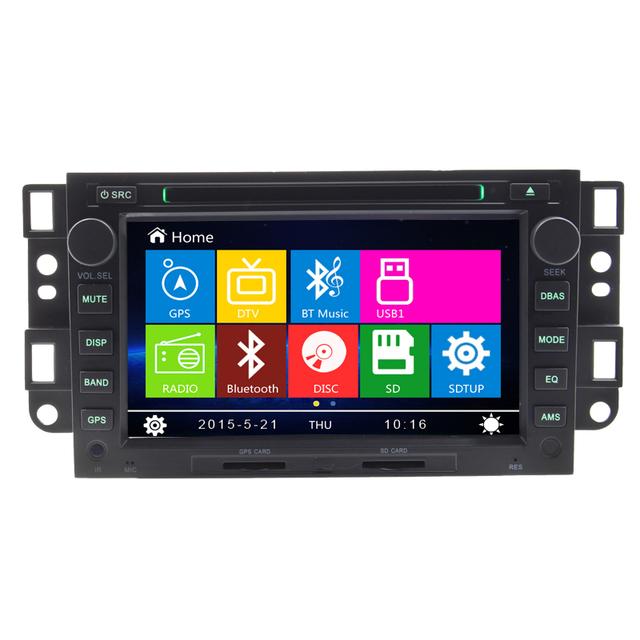 7 de polegada Carro DVD GPS de Navegação para Chevrolet Epica Lova Aveo Captiva Spark Optra 2006-PS 2012 com BT
