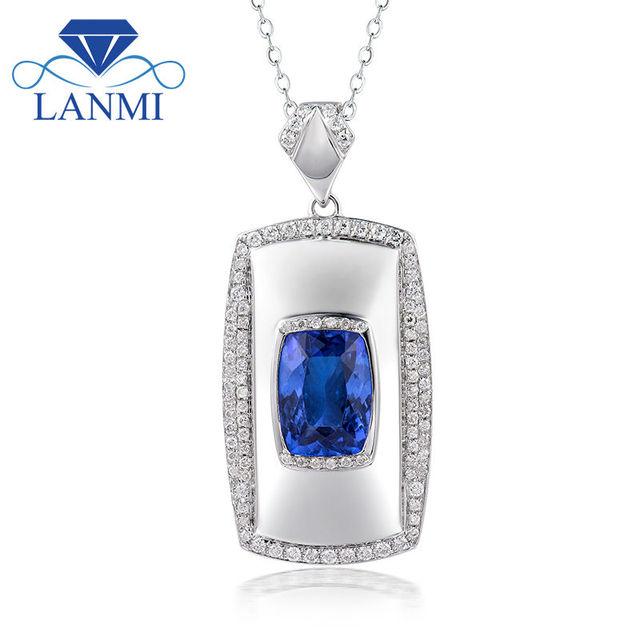 Genuine tanzanite diamond pendant in solid 18k white solid gold genuine tanzanite diamond pendant in solid 18k white solid gold charm pendant aaa tanzanite pendant mozeypictures Choice Image