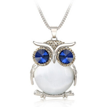 Fashion Women Vintage Long Sweater Chain Owl Necklace Crystal Pendant Jewelry Gift C788