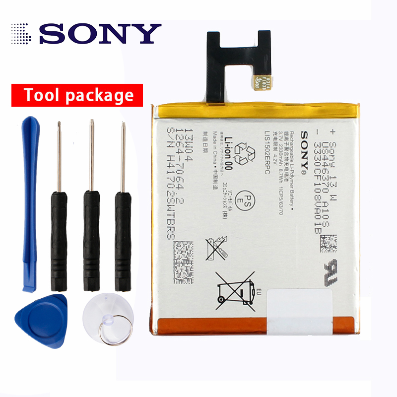 Original <font><b>Sony</b></font> High Capacity Phone <font><b>Battery</b></font> For <font><b>Sony</b></font> <font><b>Xperia</b></font> <font><b>Z</b></font> L36h LTE <font><b>C6602</b></font> C6603 L36i L36 LT36 LT36i LT36H 2330mAh LIS1502ERPC image