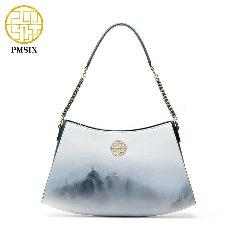 Pmsix Famous Brand Bags Fashion Printing handBags For Women Long Strap Shoulder Bags portable single casual Cross-body bagPmsix Famous Brand Bags Fashion Printing handBags For Women Long Strap Shoulder Bags portable single casual Cross-body bag