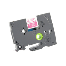 PUTY 3 pcs Irmão Compatível TZe-MQP35 12mm Branco em Berry Rosa-P Toque Fita TZ Fita TZ-MQP35 PT-9500PC, PT-9700PC, PT-9800PCN.